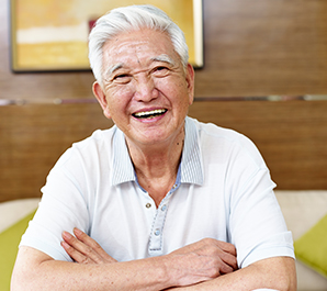 Happy smiling older man